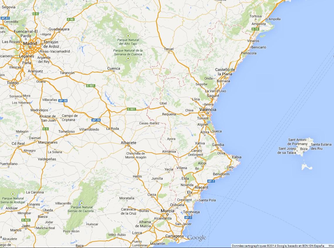 Quand partir dans la communauté de Valence entre Castellon de la