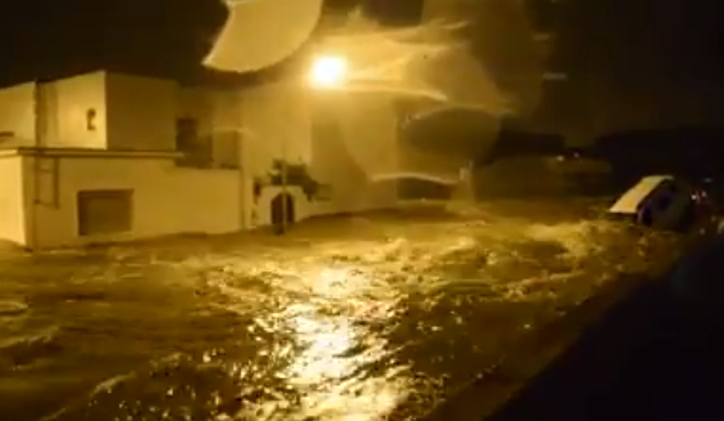 Jerez de la Frontera under floods