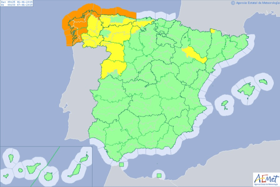 Where storm Miguel start near Spain