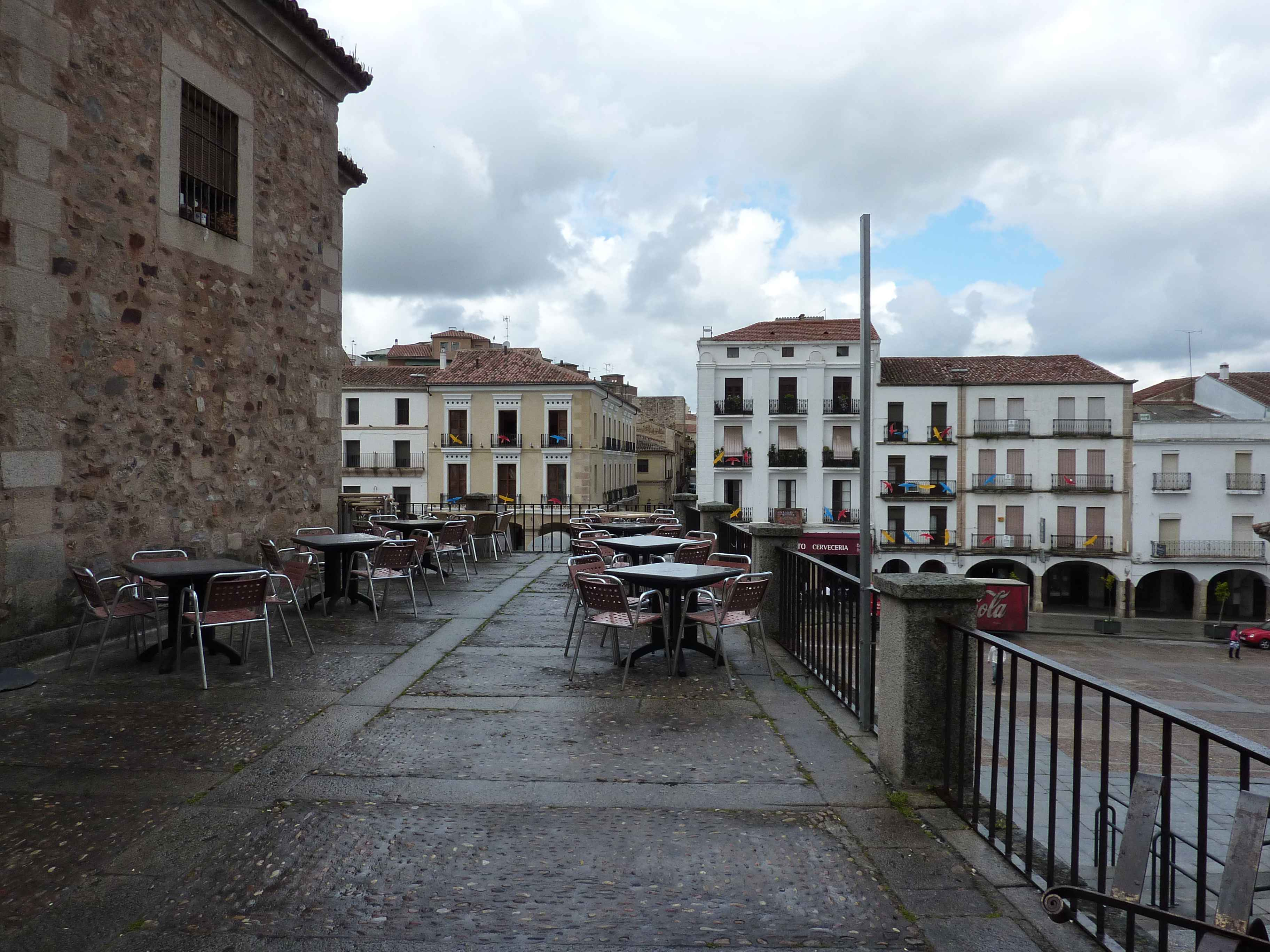 Terasse Plaza Major Caceres en Images